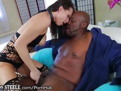 big ass, big dick, hardcore, interracial, lexingtonsteele, big-dick, fishnets, black, big-natural-tits, blowjob, bbc, big-black-cock, high-heels, shaved, reverse-cowgirl, cowgirl, riding, cumshot, older-younger, babe