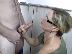 Jodi west jerks this hard cock