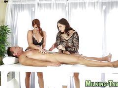 Horny masseuse gets fuck