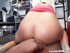 Nipple pierced casting babe rides cock pov