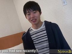 Japanese twink cum cover hardcore