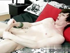 Skinny emo twinks jack off session filmed in bed