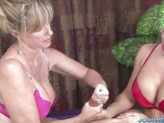 Jodi west and friend play with this hard cock