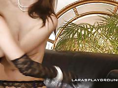 milf, big ass, lesbians, babe, high heels, amateur, eating pussy, fingering, boobs groping, lara's playground, lexy kumsalot, lara latex