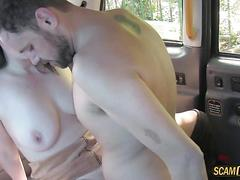 Damn couple have sex in the back of taxi
