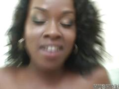 Hot black girl love biggest white cock!