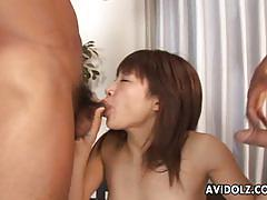Asian devours these hard cocks