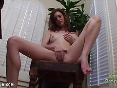 anna skye, brunette, masturbation, small tits, solo, shaved pussy