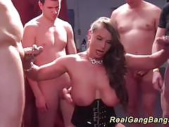 German amateur fucked in gangbang