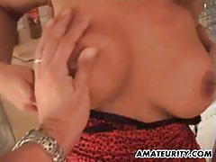German amateur milf with big tits gets fucked