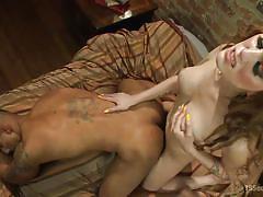 shemale big boobs, brunette tranny, ladyboy big cock, anal, tattoo, interracial, from behind, ebony gay, ts seduction, kink, robert axel, kylie maria