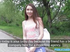 Publicagent slim young russian has hot sweaty sex with stranger