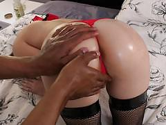 Black dick pounds hard into tight pussy blonde hollie mack