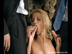 Dp german blonde milf
