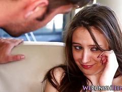 Teen gets rough facial
