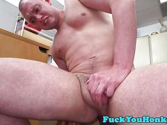 Casting straighty pounded by black agent