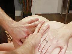 Tattooed blonde milf gets her ass stuffed