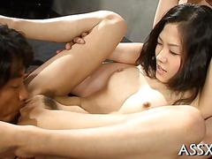 Japanese schoolgirl finger fucked by two guys