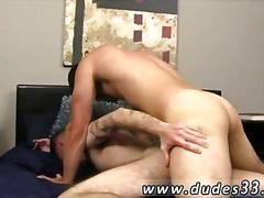 Hairy tattooed guy gets his ass fucked after a hot blowjob