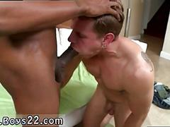 That black cock can barely fit in his nasty mouth