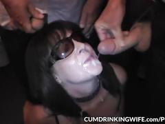 Cum slut wife marion creamed by strangers in and over