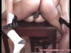 Velvet swingers club blonde wife with two bbc studs swingers