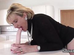 Unfaithful english milf lady sonia flaunts her huge tits