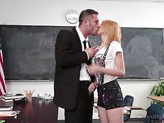 Dirty detention for sexy little student cece capella