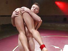 Gay fucking in the wrestling arena