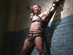 gay bdsm, cock torture, ball gag, water bondage, electric wand, 30 minutes of torment, kink men, doug acre