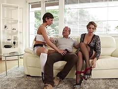 Spunking on beautiful ani black fox and ana rose