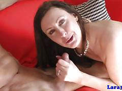 Wild milf pounded and facialized