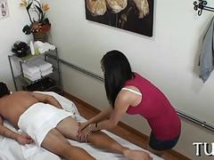 Asian chick filmed on hidden cam fucking in massage parlor