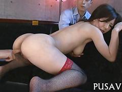 asian, japanese, masturbation, shaved, fingering, stockings, vibrator