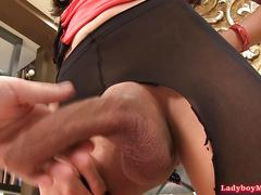 Ladyboy annie barebacked and cum-covered