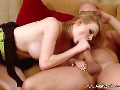 Blonde czech milf gets ass fucked