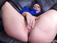 Big ass brunette lola foxx thrashed in her butthole