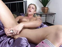 Dahlia sky pleasures her cute pussyhole