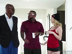 Blonde angel smalls enjoys a double dose of bbc