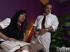 Dude enjoys sucking tranny's @shemale schoolgirl sluts #01