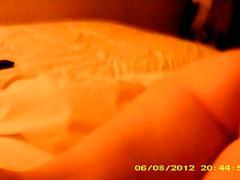 Mature wife's buttock massage voyeur footage