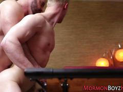 Mormon gets ass rimmed