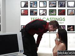 Kacey gets mouth fucked during brutal casting