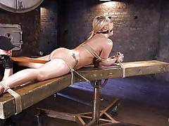 Bonded blonde gets awfully aroused