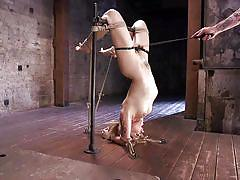 Dahlia gets tied upside down and punished