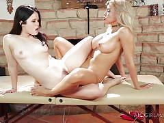 Passionate lesbian massage