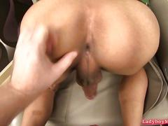 Passive thai ladyboy ja fucked