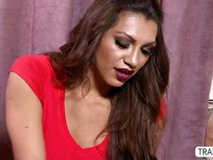Transgirl jessy massages sensually and fucked her hunk client