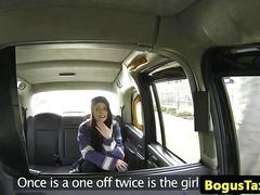 British taxi amateur creampied by cabbie