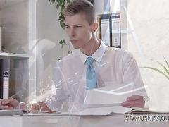 Boss bangs stud in the office